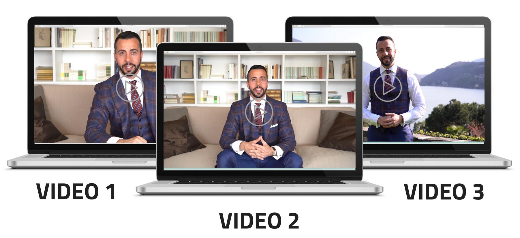 Clicca sull'immagine e scarica i 3 video gratuiti